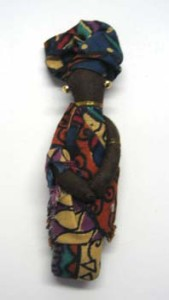 4 inch African dressed doll pin