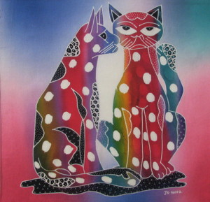 Whispering Cats panel #81 18x20